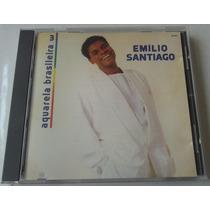 Emilio Santiago Aquarela Brasileira 3 Cd Brasileño 1990