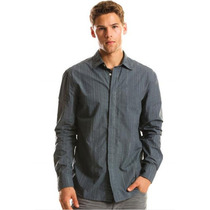 Camisa Ax Armani Exchange Manga Larga Lakeside Talla L