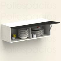 Alacena Gabinete Cocina Modular Piston Blanco Con Chocolate