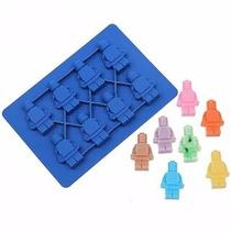 Molde De Silicon En Forma De Muñeco De Lego #4