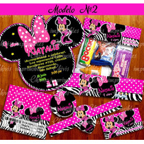 Kit Imprimible Minnie Mouse Mimi Cebra Cumpleanos Tarjeta #3