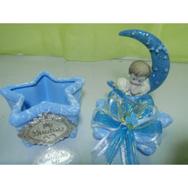 Hermoso Detalle Para Bautizo Cajita De Ceramica Con Angelito