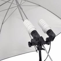 Socket Doble Para Tripié Con 2 Focos 45w Estudio Fotográfico