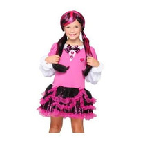 Monster High Vestido Disfraz Draculaura T 6-10 Original
