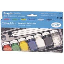 Testors Set 7 Pinturas Colores Prim. Modelismo Tamiya Revell