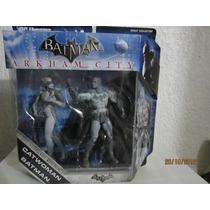 Paquete Doble De Figuras De Batman Y Catwoman D Arkham City