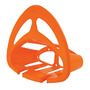 Porta Manguera Naranja De Plastico Para 25 M Truper 10387