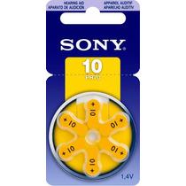 Bateria Pila P Aparato Auditivo Sony C/6 10 Pr70