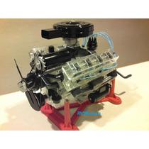Motor V-8 Visible Para Armar 1/4 De Escala
