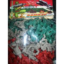 Gcg Bolsa Soldados De Plastico Color Verde Rojo Y Gris Lbf