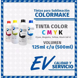 Tinta Para Sublimación Colormake Kit 4 Tintas Cmyk 125ml C/u