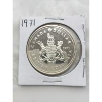 1871-1971 Centenario De Bc Canada Moneda De Plata.