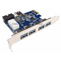 Tarjeta Pci Express -5 Puertos Usb 3.0 - Chipset Nec- 20 Pin