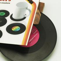 Portavasos En Forma De Disco De Vinil Paq Con 6