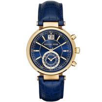 Reloj Michel Kors Dama Azul Mk 2425 Negro Envío Gratis