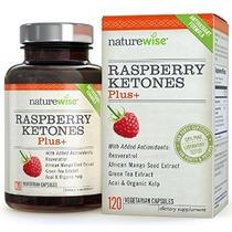 Naturewise Cetonas De Frambuesa Plus + Advanced Antioxidant