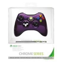 ¡ Control Inalambrico Xbox 360 Chrome Series Morado En Wg !