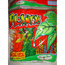 Planta Artificial Acuario 6pzas 20cm C/u Dulce/salada