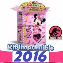 Kit Imprimible Minnie Mouse Mimi Todo Para Fiesta Nuevo