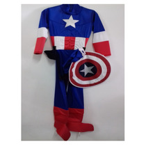 Disfraz Tipo Capitan America Niño Super Heroe Avenger Party