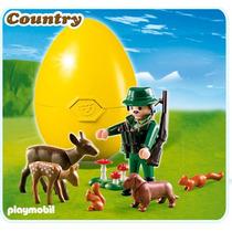 Playmobil 4938 Huevo Ranger Y Animales Del Bosque Zoologico!