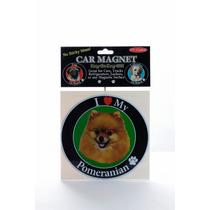 Iman Para Refrigerador Circular O Huellitas Pomeranian