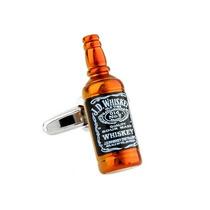 Mancuernillas Botella Whisky Camisa Traje Gemelos Acero