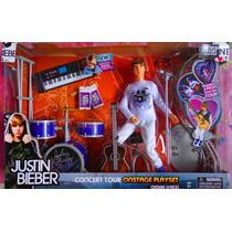 Muneco Y Equipo De Justin Bieber Set De Su Concierto Mod 1