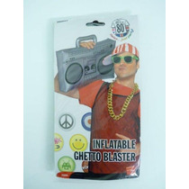 Inflable Ghetto Blaster - 50cm , 80s 90s Vestido De Lujo