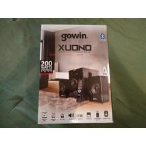 Bocinas Gowin Xuono Mini Componente 2.1 200 Watts Bluetooth