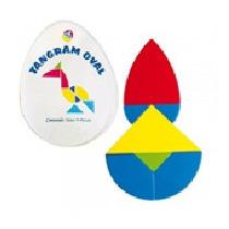 Tangram Oval 10 Juegos Material Didactico
