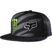 Gorra Fox Monster Zebra Snapback Motocross Mtb Downhill