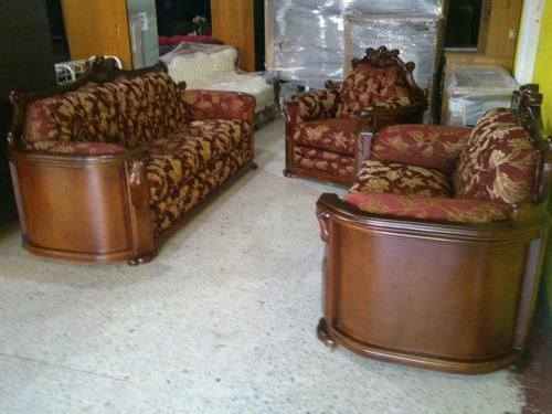 Sala provenzal modelo padova talada a mano en madera fina for Modelos de mamparas de madera para sala