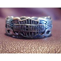 Anillo De Harley Davidson De Plata .925