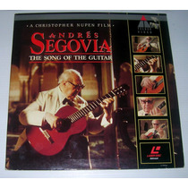 Andres Segovia The Song Of The Guitar Laser Disc 1990, Raro