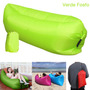 Sofa Cama Inflable Portátil Camping Bag Camastro (verde Fos)