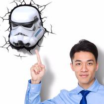 Lámpara De Pared 3d Star Wars Stormtrooper The Force Awakens