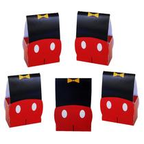 Mickey Mouse Cajita Cartón Dulcero Mesa De Dulces Cumpleaños