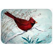 El Cardenal Rojo De Invierno Cocina Pájaro O De La Estera D