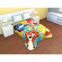 Cobertor Doble Borrego Individual Pooh
