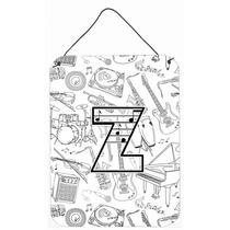 Letra Z Nota Musical Letters Pared O Puerta Colgando Impresi