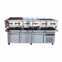 Asber Acbr-75 Base Chef Refrigerada Preparacion Alimentos