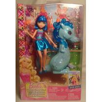 Juguetibox: Barbie Escuela De Princesas Hada Azul + Dragon
