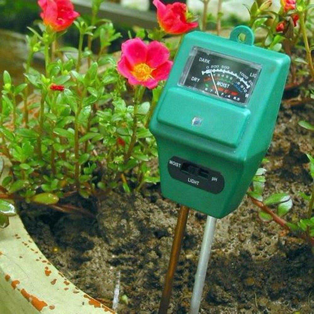 3 en 1 medidor de humedad de ph y luz tierra cultivo for Medidor ph tierra