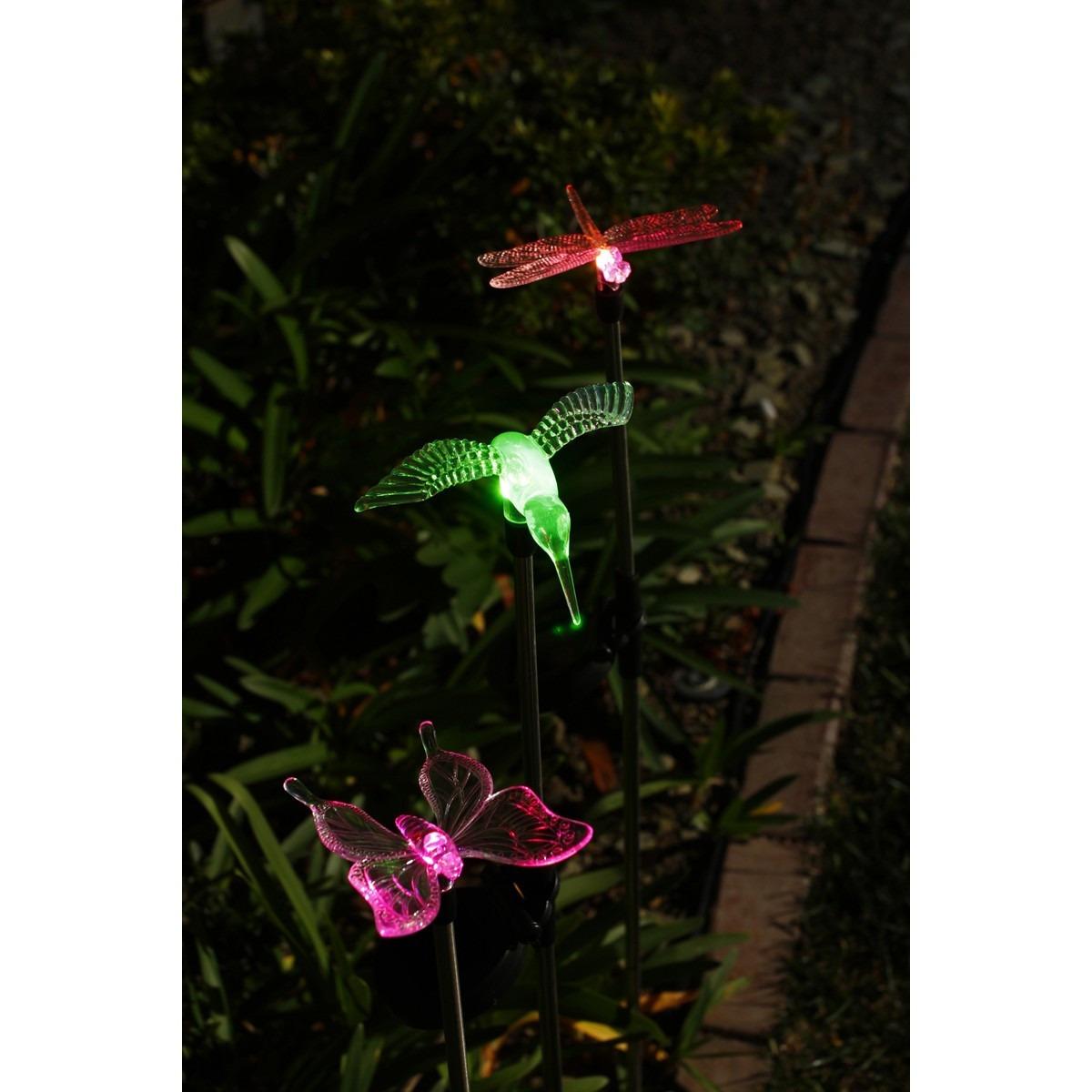 3 lamparas solares luces leds lampara jardin patio solar en mercadolibre - Luces de jardin solares ...