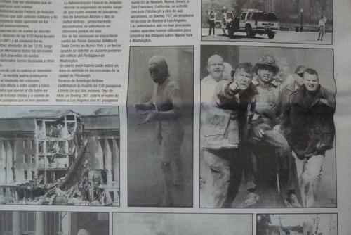 3 Periodicos 11 Septiembre Del 2001 Torres Gemelas Wtc