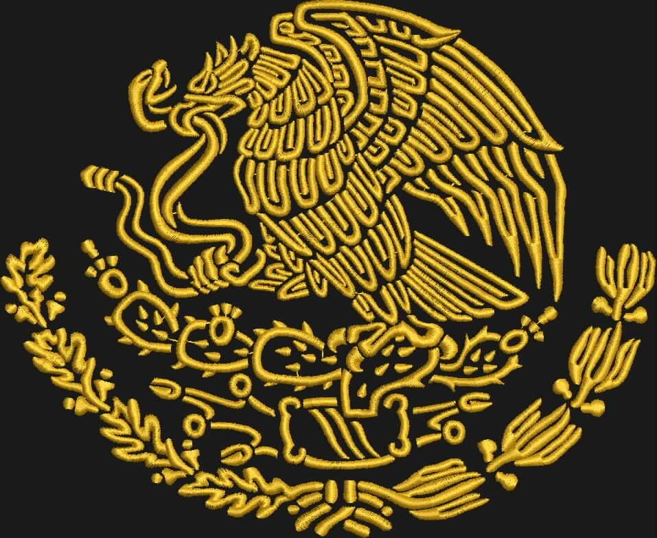 Escudo De Mexico Blanc...