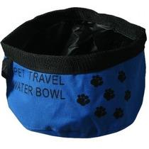Viajes Agua Bowl - Azul Mascotas Perro Gato Alimentación Pl