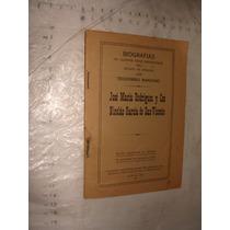 Libro Antiguo Año 1924 , Teodomiro Manzano , Biografias De