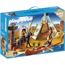 Playmobil 4012 Campamento Indio Viejo Oeste Retromex